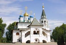 16世纪的通告Pavlovskaya Slobodathe建筑学的教会 库存照片