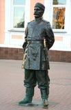 19世纪的雕塑警察 库存照片