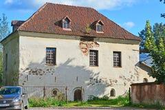 15世纪的骑士房子在维堡,俄罗斯 库存图片