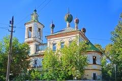 17世纪的结尾的圣乔治无效教会在Torzhok市,俄罗斯 免版税库存图片