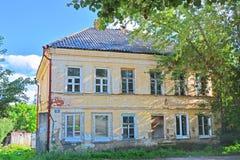 18世纪的结尾的老庄园在Bakunina街道上的在Torzhok市,俄罗斯 图库摄影