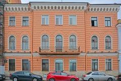 19世纪的结尾的豪宅在圣彼得堡,俄罗斯 免版税图库摄影
