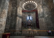 12世纪的Surb Stepanos教会的法坛 免版税库存照片