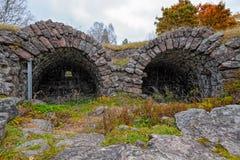18世纪石Ungern本营的废墟洛维萨的, Finla 库存图片