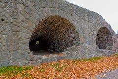 18世纪石Ungern本营的废墟洛维萨的, Finla 免版税图库摄影
