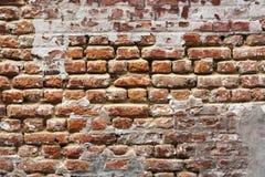 17世纪砖墙背景 免版税库存图片
