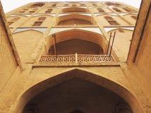 17世纪砖摩天大楼门向丝绸之路 免版税库存照片