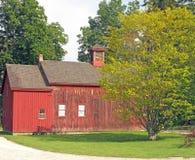 19世纪红色谷仓Berkshires MA 免版税库存照片