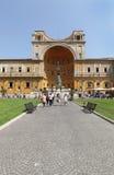 1世纪罗马古铜色Pigna (pinecone)雕塑 免版税图库摄影