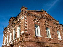19世纪老住宅房子在镇Medyn (卡卢加州地区,俄罗斯) 库存照片