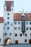12世纪老法院在慕尼黑,德国 图库摄影