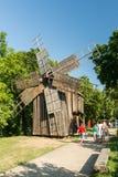 19世纪老风车 库存照片