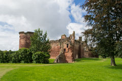 Bothwell城堡在苏格兰 库存照片