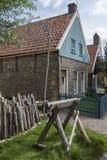 19世纪荷兰村庄- Zuiderzee -荷兰 图库摄影