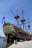 17世纪荷兰航行货物galleon船  免版税库存图片