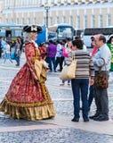18世纪衣服的妇女 库存照片