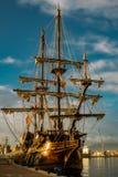 17世纪西班牙人Galleon复制品 免版税库存图片