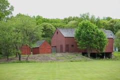 19世纪谷仓在纽约州 免版税库存图片