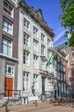 17世纪豪宅在阿姆斯特丹,荷兰的老市中心 免版税库存照片