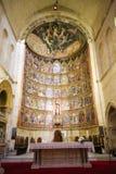 15世纪重组萨拉曼卡老大教堂  免版税库存照片