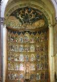 15世纪重组萨拉曼卡老大教堂  图库摄影