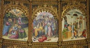 15世纪重组萨拉曼卡老大教堂  库存照片