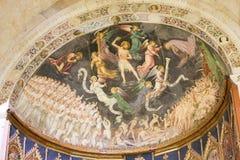 15世纪重组萨拉曼卡老大教堂  库存图片