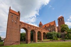 14世纪防御城堡 免版税图库摄影