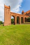 14世纪防御城堡 库存图片
