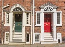 18世纪露台的房子 免版税库存照片