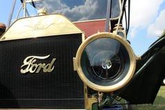 20世纪10年代经典美国葡萄酒汽车前灯 库存图片
