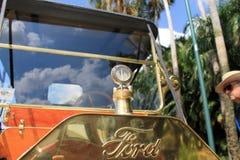 20世纪10年代经典美国葡萄酒汽车前面 库存照片