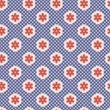 20世纪50年代称呼六角形补缀品圆点无缝的传染媒介样式 向量例证