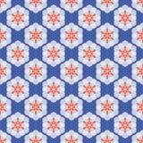 20世纪50年代称呼六角形补缀品小点无缝的传染媒介样式 民间艺术被子 库存例证