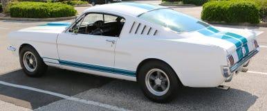 20世纪60年代式样Ford Mustang的背面图 免版税库存图片
