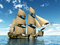 18世纪轻武装快舰 免版税库存照片
