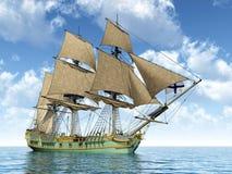 18世纪轻武装快舰 图库摄影