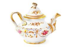 从19世纪& x28的古色古香的咖啡罐; Biedermeier time& x29; 库存照片