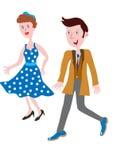 20世纪50年代的流行的服装 免版税库存图片