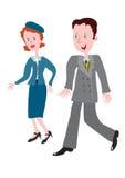 20世纪40年代的流行的服装 免版税库存图片