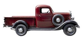 从20世纪30年代的红色葡萄酒卡车 免版税库存照片