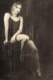 20世纪30年代的肉欲的妇女 免版税图库摄影