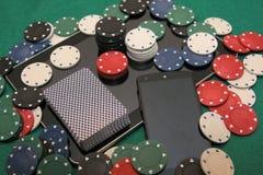 21世纪-网上赌博娱乐场特写镜头 库存照片