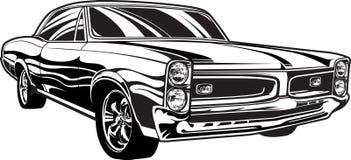 20世纪60年代肌肉汽车 库存例证