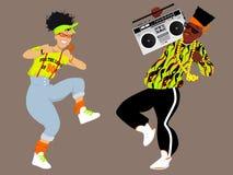 20世纪80年代Hip Hop 皇族释放例证