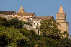 13世纪Cefalu大教堂在Cefalu,西西里岛,意大利 免版税库存照片