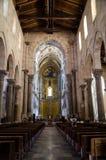 13世纪Cefalu大教堂在Cefalu,西西里岛 免版税图库摄影