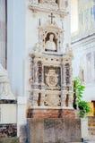 13世纪Cefalu大教堂在Cefalu,西西里岛 库存图片