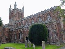 12世纪Crediton教区教堂在德文郡,英国 免版税库存图片