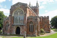 12世纪Crediton教区教堂在德文郡,英国 免版税图库摄影